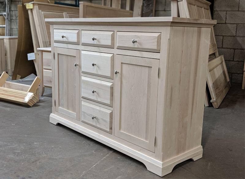 solid wood Chateau Buffet and Hutch-05