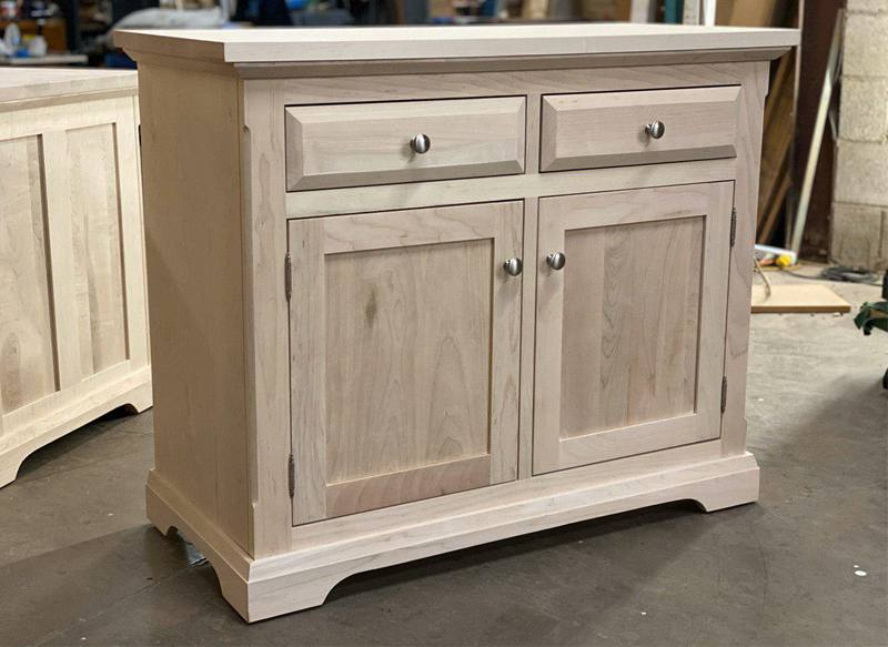 solid wood Chateau Buffet and Hutch-04