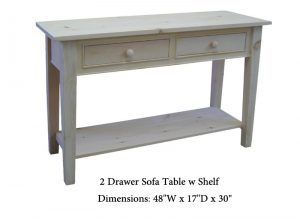 solid wood A-Series sofa table