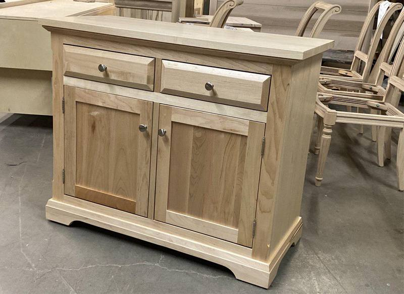solid wood Chateau Buffet and Hutch-03