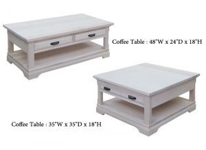 Chateau solid wood Coffee Table02