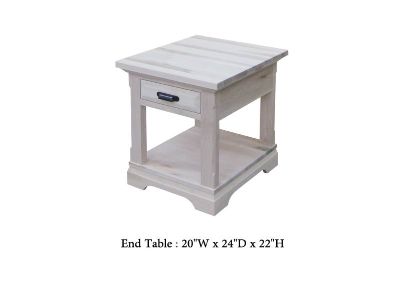 Chateau solid wood end Table