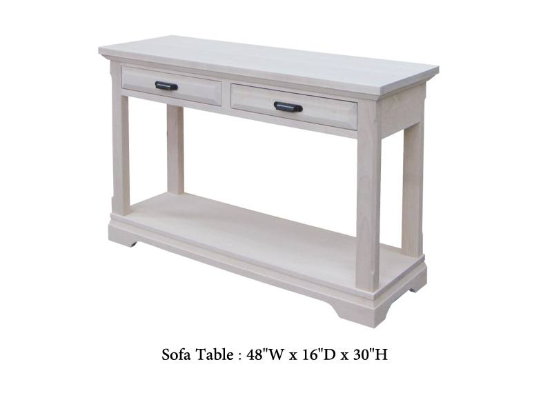 Chateau solid wood sofa Table