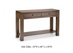 solid wood Newport modern sofa table