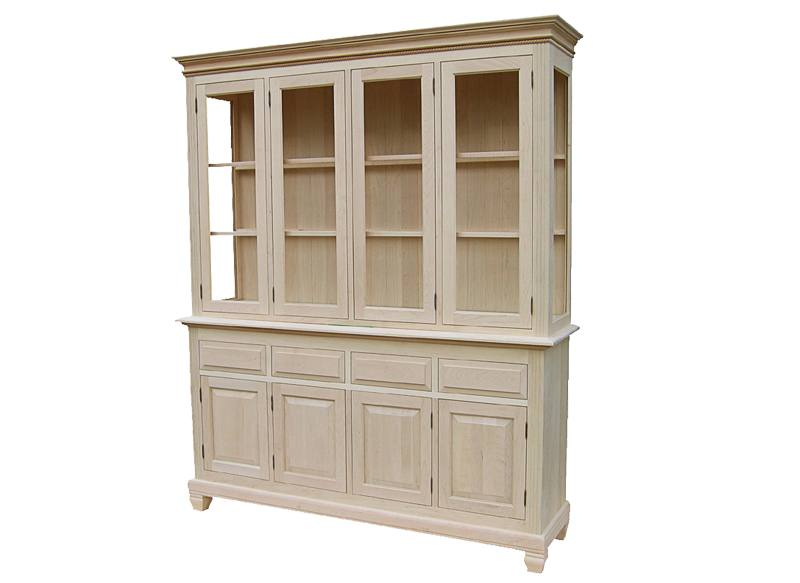 solid wood Florentine Buffet and Hutch -handcrafted-04