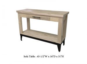 solid wood mission sofa table