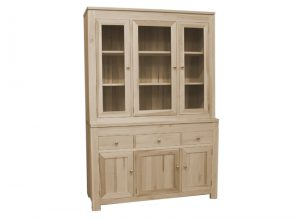 solid wood newport Modern Buffet and Hutch-handcrafted-04