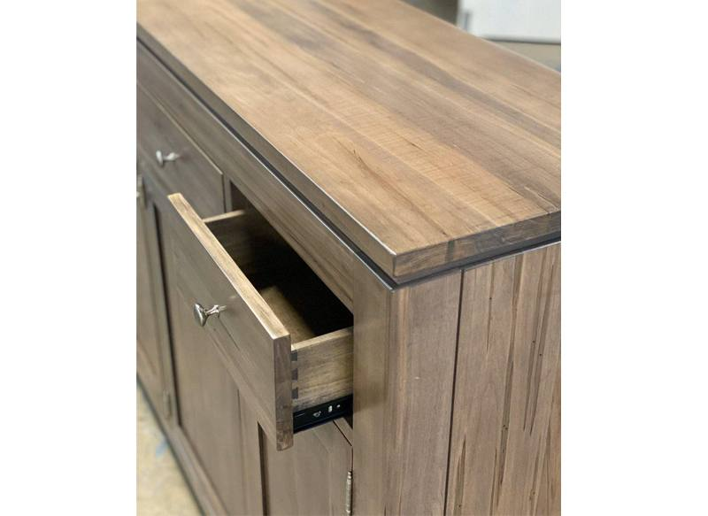 solid wood newport Modern Buffet and Hutch-handcrafted-03