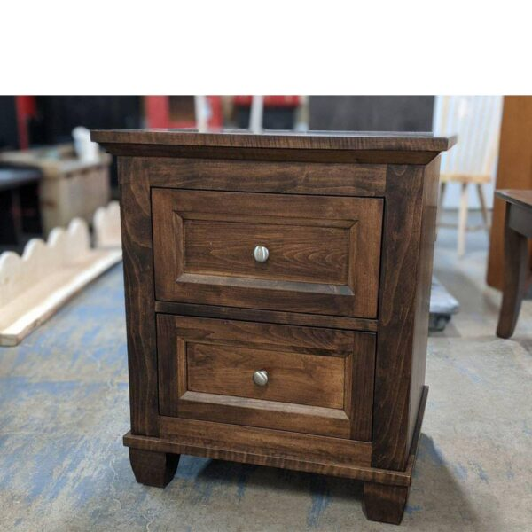 Algonquin solid wood nightstand-01