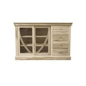 Art Deco solid wood buffet and Hutch-01