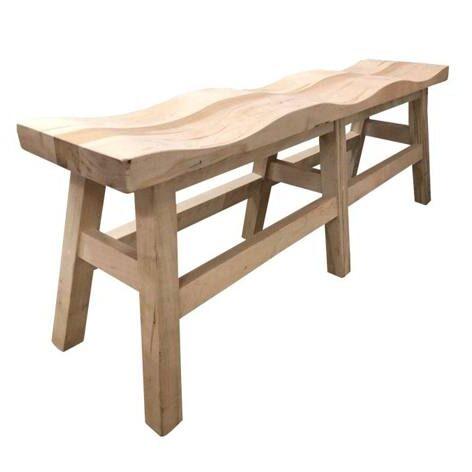 Saddle Solid Wood Bench