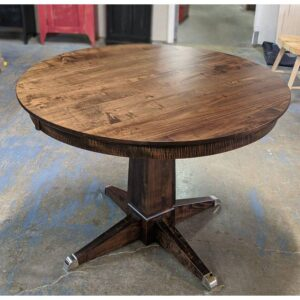Danish round table-single pedestal-solid wood-01