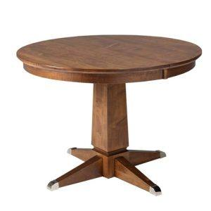 Danish single pedestal table-solid wood handcrafted
