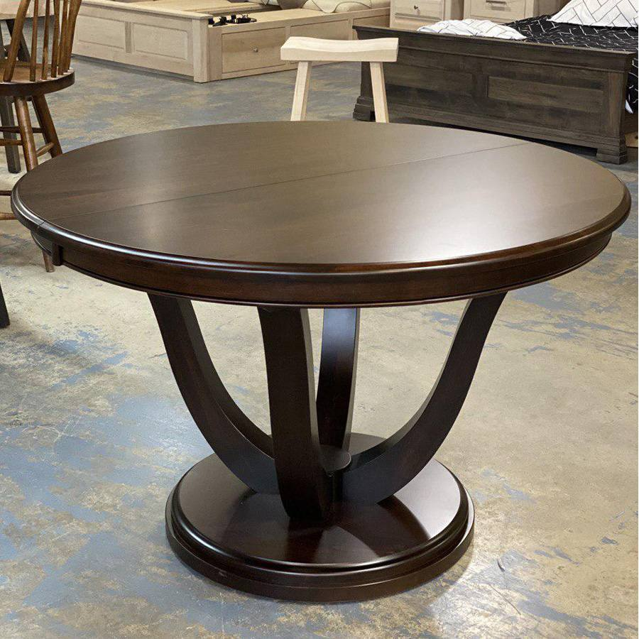 Grand louvre solid wood round table-02