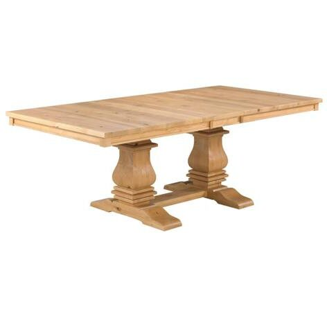 Mediterranean solid wood dining table-001