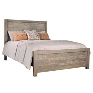 solid wood rough cut bed