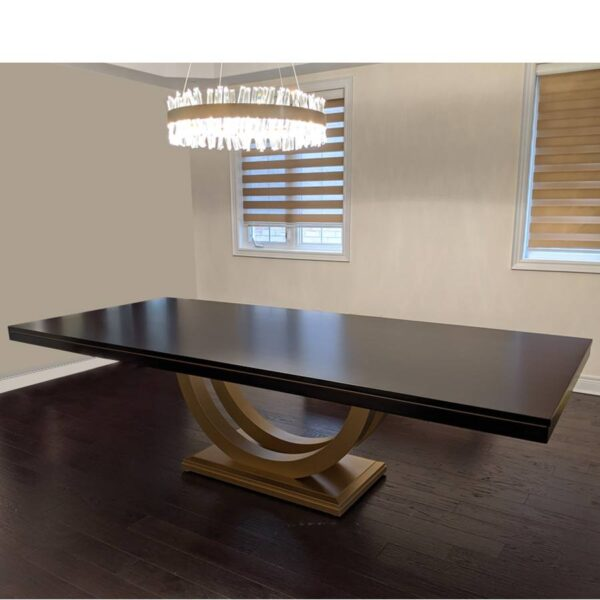Metro solid wood dining table- handcrafted