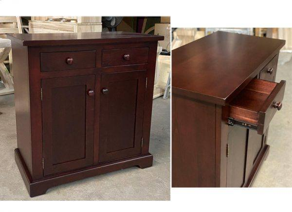 Solid Wood Farmhouse Buffet and Hutch-customized-06