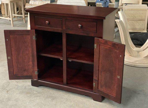 Solid Wood Farmhouse Buffet and Hutch-customized-05