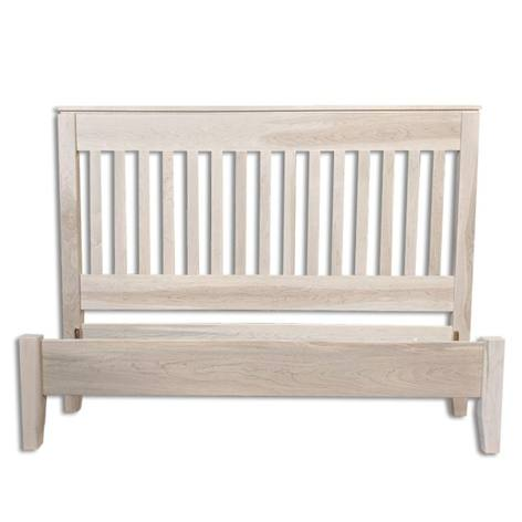 mission solid wood bed-handcrafted