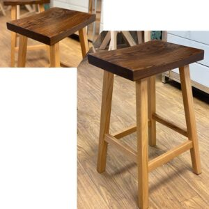 saddle solid wood bar stool