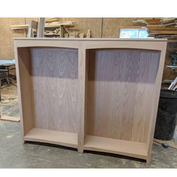 Solid Oak Fancy bookcase-0