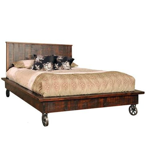 Steampunk Solid Wood Bed-handcrafted