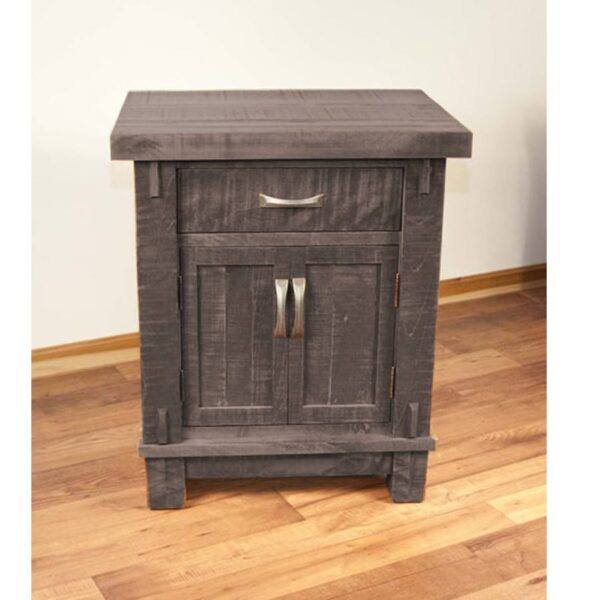 Timber solid wood rustic nightstand
