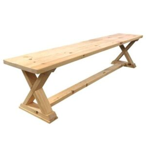 Solid Wood X Base Bench-handcrafted custom bench
