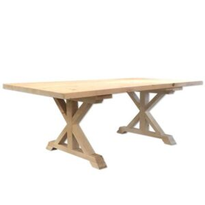 solid wood x-base dining table-001