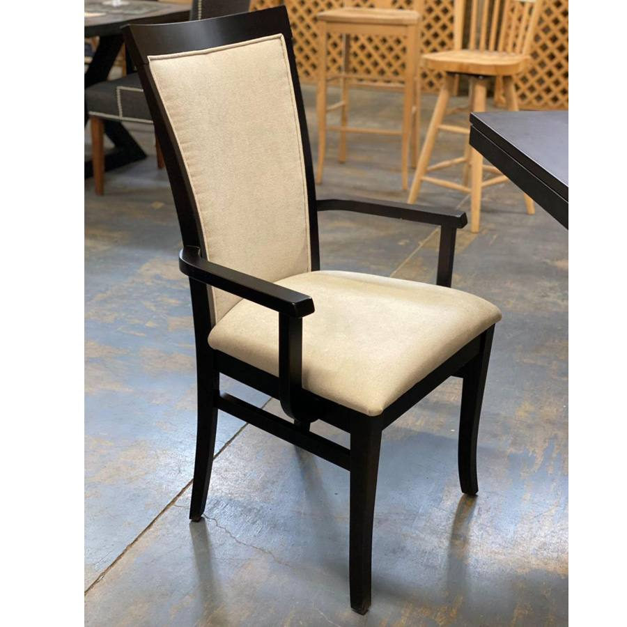 Belwood solid wood arm chair-upholsetry chair-dining chair