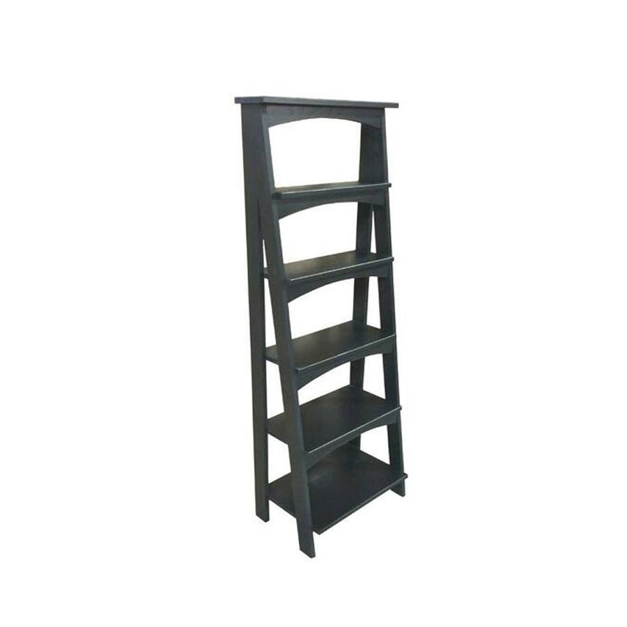 solid wood handcrafted ladder bookcase-01