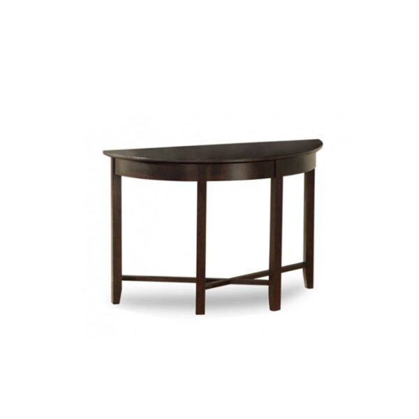 Solid Wood Demilune Elliptical Round sofa Table-01