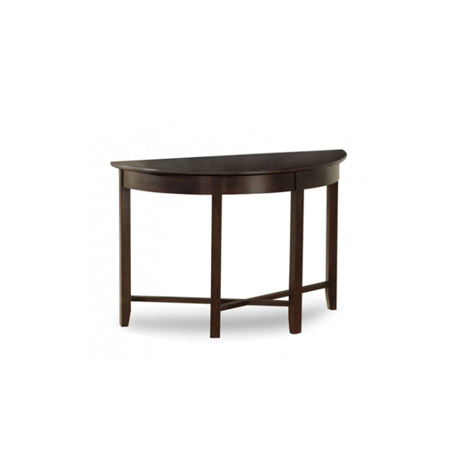 Solid Wood Demilune Elliptical Round sofa Table-01