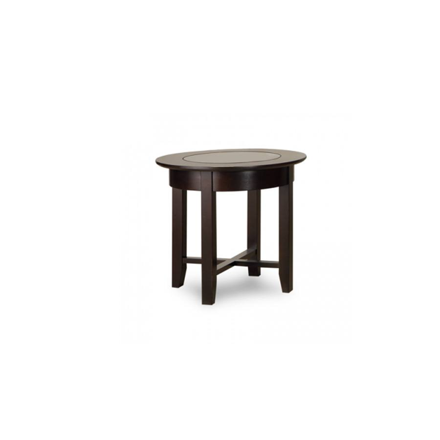 Solid Wood Demilune Elliptical Round end Table-01