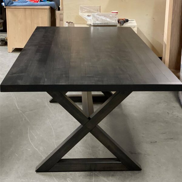 Modern X-Base Table-solid wood-handcrafted-01