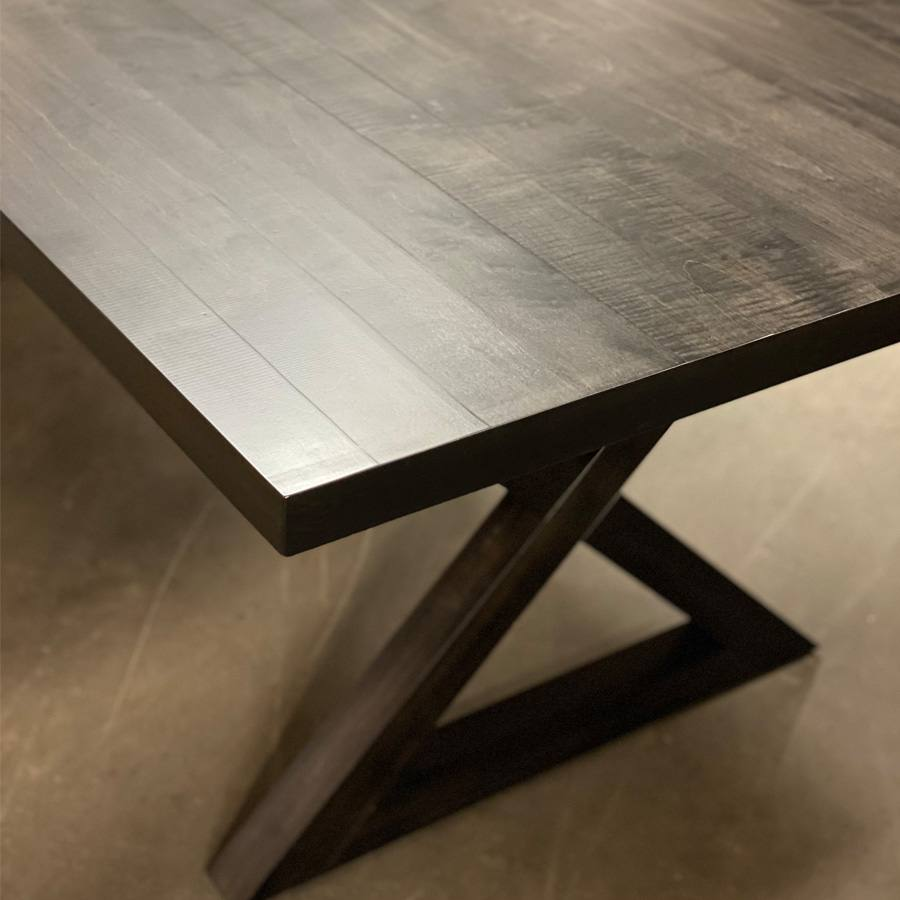 Modern X-Base Table-solid wood-handcrafted-02