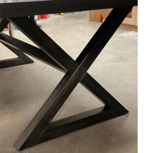 Modern X-Base Table-solid wood-handcrafted-04
