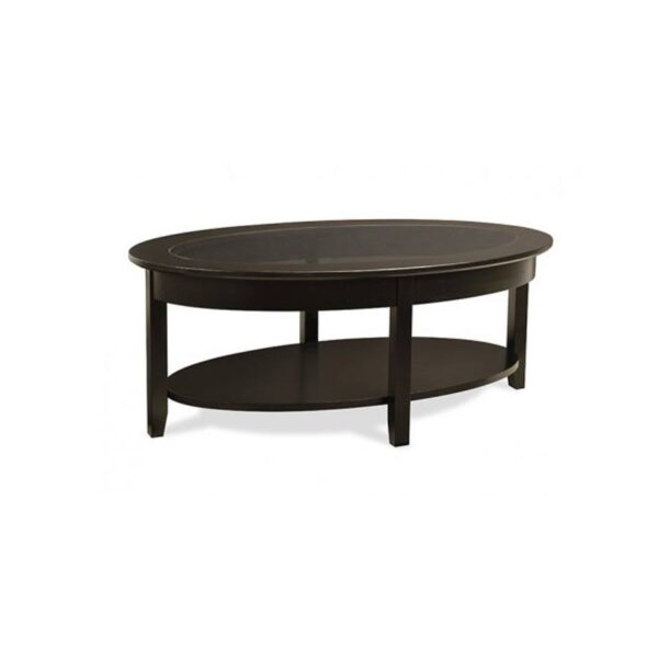 Solid wood Demilune Elliptical Oval Coffee Table-01