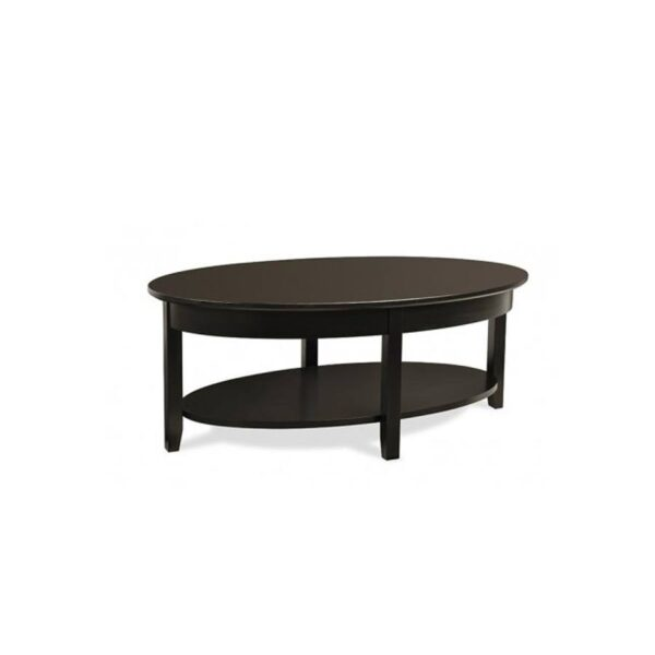 Solid wood Demilune Elliptical Oval Coffee Table-02