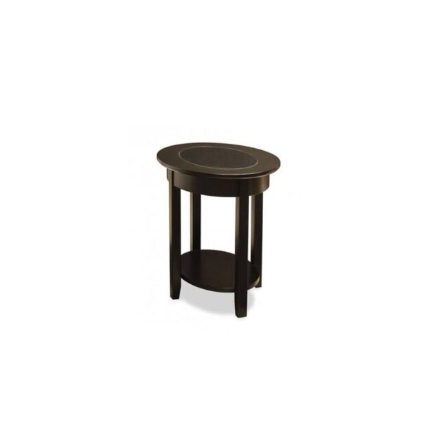Solid wood Demilune Elliptical Oval end Table