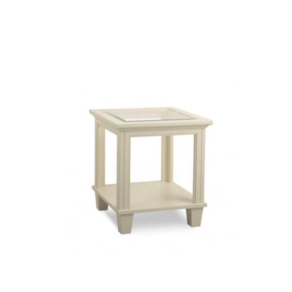 Solid wood glass top georgetown end table