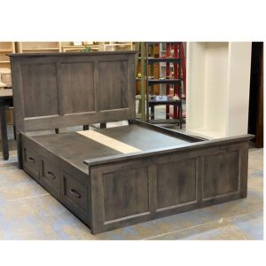 solid wood handcrafted Algonquin Storage Bed-02